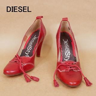 ディーゼル(DIESEL)の未使用 DIESEL ディーゼル 37 赤系 革 ハイヒール(ハイヒール/パンプス)