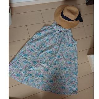 FELISSIMO - 花柄 ジャンパースカート風チュニック Lサイズ