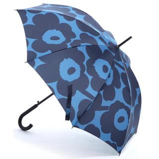 マリメッコ(marimekko)のmarimekko Stick Pieni Unikko 長傘 ブルー 新品(傘)