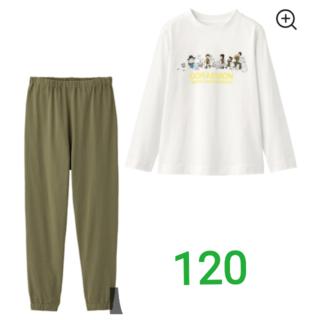 ジーユー(GU)の【新品】ドラえもん KIDSラウンジセット(長袖)(パジャマ)