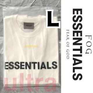 フィアオブゴッド(FEAR OF GOD)の【Lサイズ】FOG ESSENTIALS WHITE LOGO TEE(Tシャツ(半袖/袖なし))