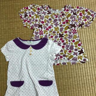 サンカンシオン(3can4on)の女児 100㎝ Tシャツ 2枚セット(Tシャツ/カットソー)