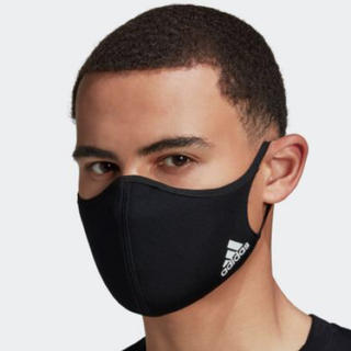 adidas - adidasマスク 大人用 BLACK3枚