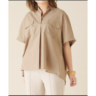 ディスコート(Discoat)のテンセル混両ポケスキッパーシャツ discoat(シャツ/ブラウス(半袖/袖なし))