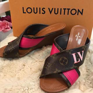 LOUIS VUITTON - ☆美品☆ルイヴィトン サンダル パノラマライン サイズ約23.5cm