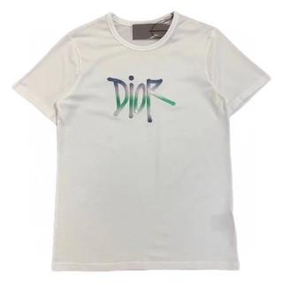 ディオール(Dior)のDIOR AND SHAWN Tシャツ ディオール Stussy コラボ 白(Tシャツ/カットソー(半袖/袖なし))
