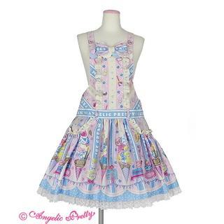 アンジェリックプリティー(Angelic Pretty)のIce Cream Parlorサロペット ピンク×サックス(ミニワンピース)
