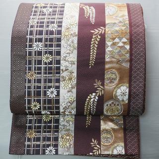 濃紫色の袋帯  六通  正絹 フォーマル〜セミフォーマルまで