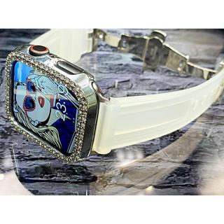 アップルウォッチダイヤカバーベルトセット ワイド型スーパーソリッドラバーベルト(腕時計(デジタル))