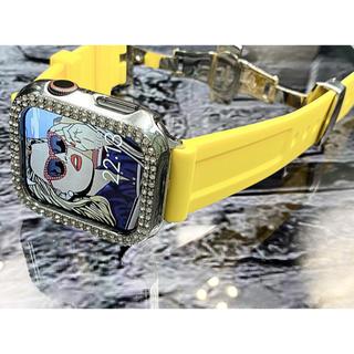 アップルウォッチダイヤカバーベルトセット ワイド型スーパーソリッドラバー(腕時計(デジタル))