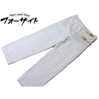 シャネル(CHANEL)のA6 00T シャネル ◇ (38) ベルト デザイン コットン パンツ(カジュアルパンツ)
