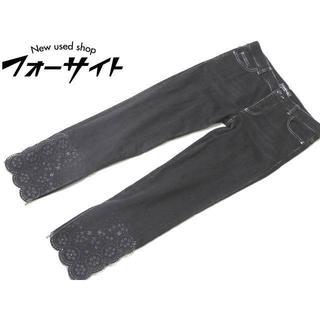 シャネル(CHANEL)のA7 美品 シャネル ◇ (38) ストレッチ デニム パンツ ブラック (デニム/ジーンズ)