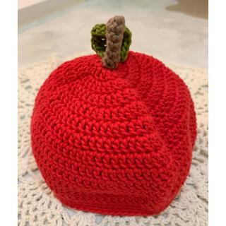 【未使用】コットン100%  赤ちゃん用 どんぐり帽子 りんご