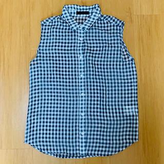 ジーナシス(JEANASIS)のJEANASIS*ギンガムチェック ノースリーブシャツ(シャツ/ブラウス(半袖/袖なし))