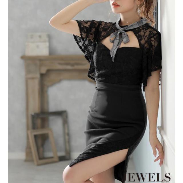 JEWELS(ジュエルズ)のネックリボンドレス JEWELS レディースのフォーマル/ドレス(ナイトドレス)の商品写真