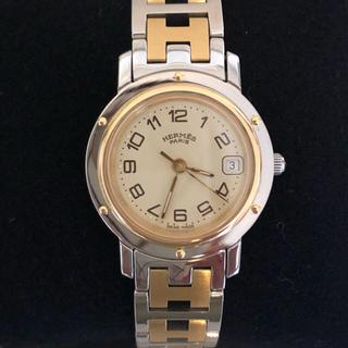 エルメス(Hermes)のHERMES エルメス クリッパー腕時計 レディースウォッチ 極美品(腕時計)