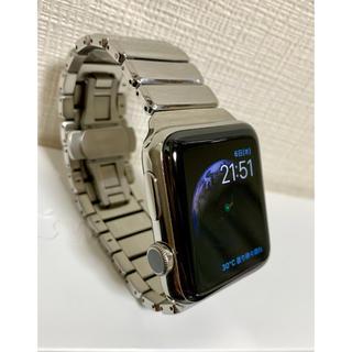 アップルウォッチ(Apple Watch)のApplewatch series2 Stainless Steel 42mm(腕時計(デジタル))