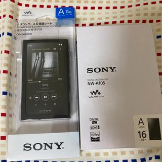 ソニー(SONY)のSONY ウォークマン NW-A105 A100シリーズ ケース付き(ポータブルプレーヤー)