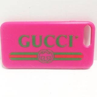 グッチ(Gucci)のGUCCI(グッチ) 携帯電話ケース - ラバー(モバイルケース/カバー)