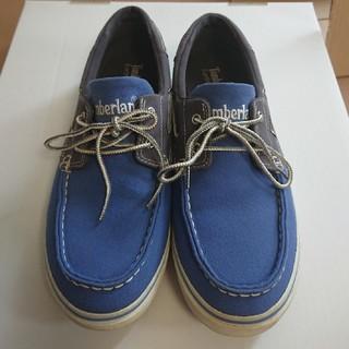 ティンバーランド(Timberland)のティンバーランド デッキシューズ ブルー 25.5センチ (デッキシューズ)