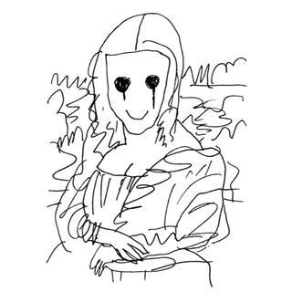 村上隆 版画 Coffee Break Drawing of Mona Lisa