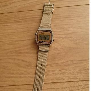 カシオ(CASIO)のCASIO 腕時計  A-158WEA-9JF  ベージュベルト(腕時計(デジタル))