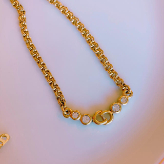 クリスチャンディオール(Christian Dior)のdior ゴールドネックレス (ネックレス)