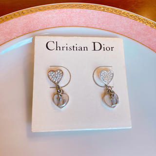 クリスチャンディオール(Christian Dior)のdiorキラキラピンクシェルピアス(ピアス)