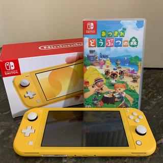 ニンテンドースイッチ(Nintendo Switch)のswitch lite(イエロー)&あつまれどうぶつの森(家庭用ゲーム機本体)