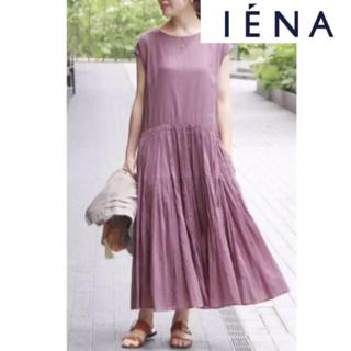 IENA - 新品未使用 IENA コットンボイルフレンチスリーブワンピース