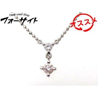 K18 WG ホワイトゴールド ネックレス ■ ピンクダイヤ 0.174ct(ネックレス)