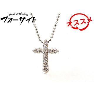 Pt900/850 ネックレス ■ ダイヤ 0.50ct クロス デザイン(ネックレス)