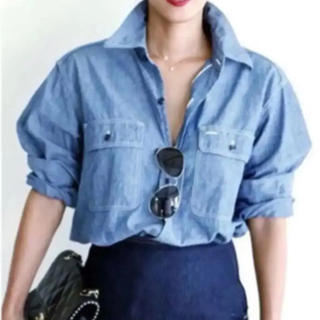 マディソンブルー(MADISONBLUE)のMADISONBLUE マディソンブルー シャンブレーシャツ(シャツ/ブラウス(長袖/七分))