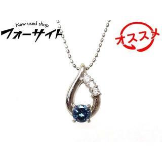 Pt900 ネックレス ■ 染め ブルーダイヤ 0.317ct(ネックレス)