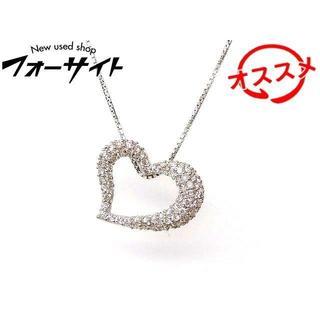 K18 WG ホワイトゴールド ネックレス ■ ダイヤ 0.50ct(ネックレス)