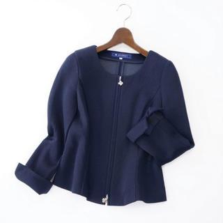 M'S GRACY - エムズグレイシー 袖口リボンダブルジップ ジャケット
