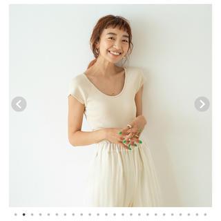 シールームリン(SeaRoomlynn)のパッドinBACK Uカットソー(Tシャツ(半袖/袖なし))