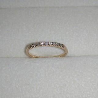 ジュエリーツツミ(JEWELRY TSUTSUMI)のジュエリーツツミ K10 ダイヤ ハーフエタニティ ピンキー リング(4号)(リング(指輪))