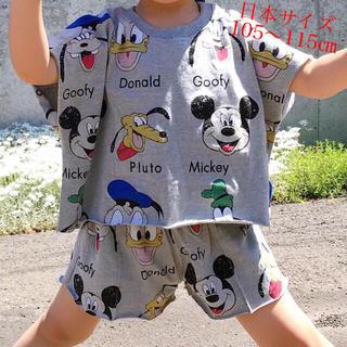 ディズニー(Disney)の★夏の新作・在庫限り★ディズニー セットアップ★綿100%♡グレイ・110★(Tシャツ/カットソー)