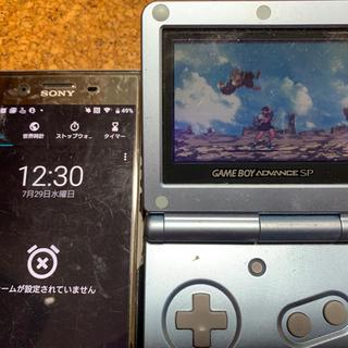ゲームボーイアドバンス(ゲームボーイアドバンス)のゲームボーイアドバンスSP 本体 アイスブルー 激レアFF6 イヤフォンジャック(携帯用ゲーム機本体)