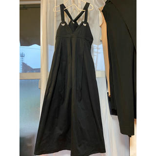 merlot - ジャンパースカート ロングワンピース サロペットスカート