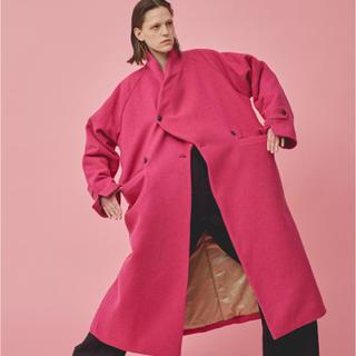 ホリデイ(holiday)のHOLIDAY  ショールカラー 布団コート コート 新品 ピンク(毛皮/ファーコート)