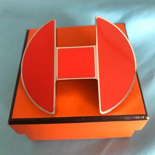 エルメス(Hermes)のエルメスのバレッタ シルバー オレンジ ☆540 A(チャーム)
