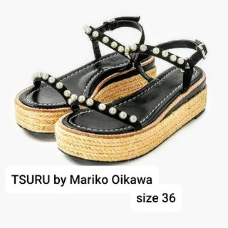 IENA - 新品TSURU by Mariko Oikawa36 パールウエッジサンダル