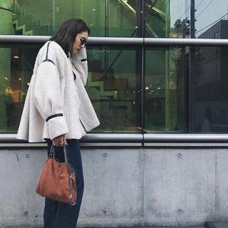 トゥデイフル(TODAYFUL)のSTAIR ボンディングボアコート ステア コート ジャケット 美品(毛皮/ファーコート)
