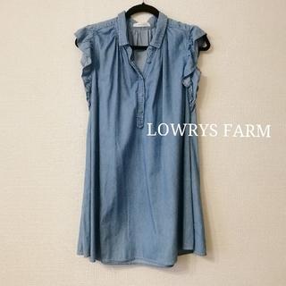 ローリーズファーム(LOWRYS FARM)のLOWRYS FARM ノースリーブワンピース(ミニワンピース)