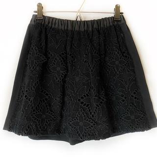 ルイヴィトン(LOUIS VUITTON)のルイヴィトン ミニスカート サイズ34 S 黒(ミニスカート)