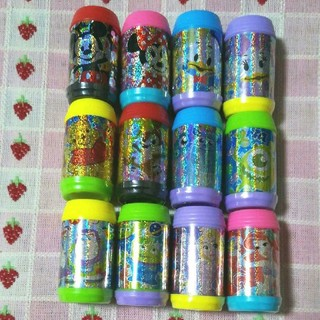 Disney - 【12個セット】ディズニー缶型スタンプ