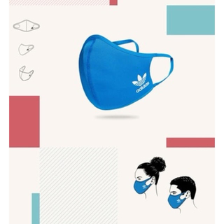 adidas - adidas フェイスカバー Lサイズ 未使用品1枚青色