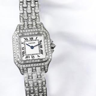 カルティエ(Cartier)の【仕上済】カルティエ パンテール シルバー ダイヤ レディース 腕時計(腕時計)